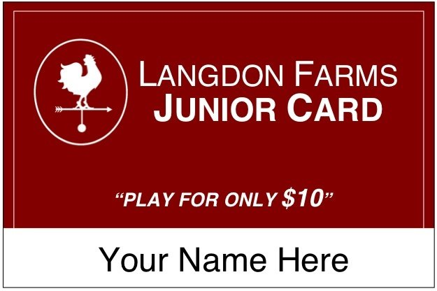 Langdon Farms Junior Card