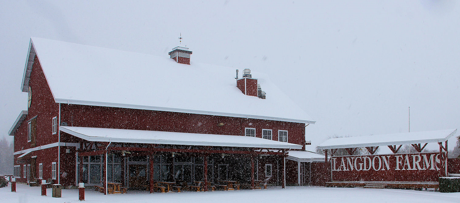 Langdon Farms Clubhouse in the winter