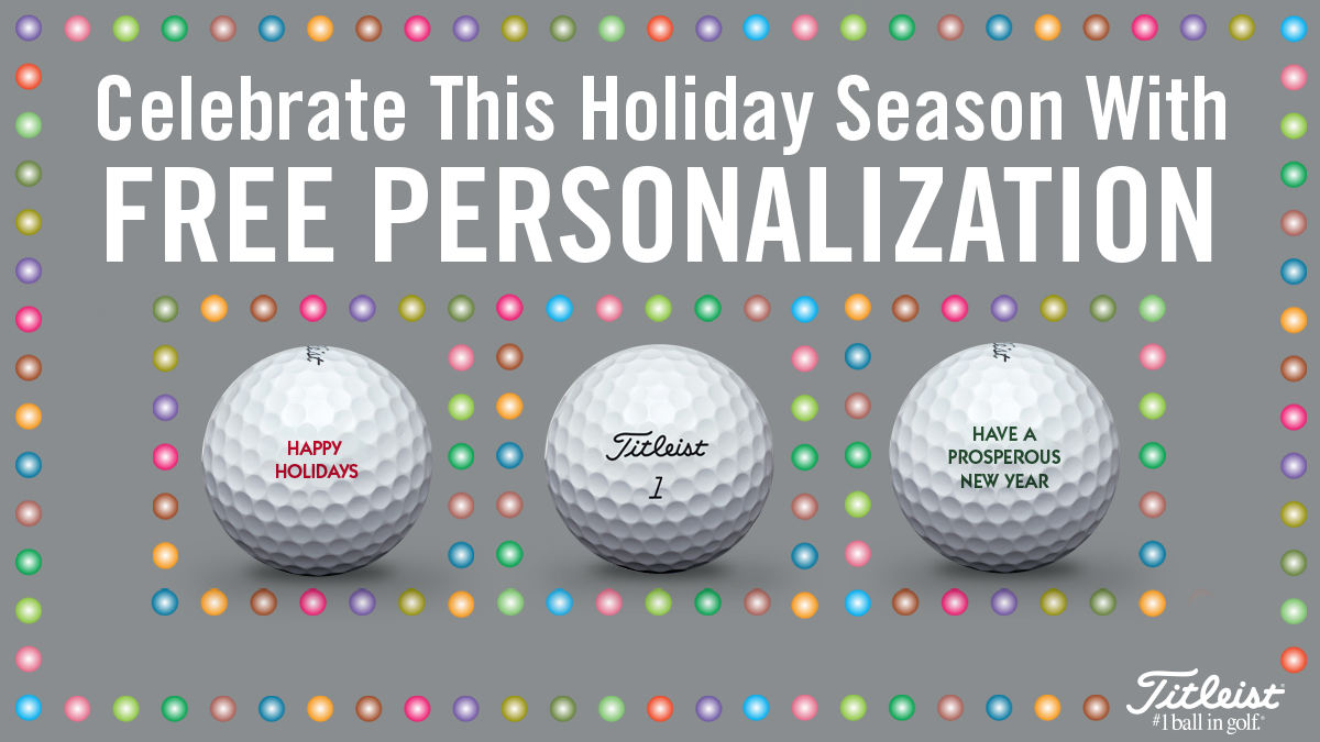 Golf ball personalization for the holidays