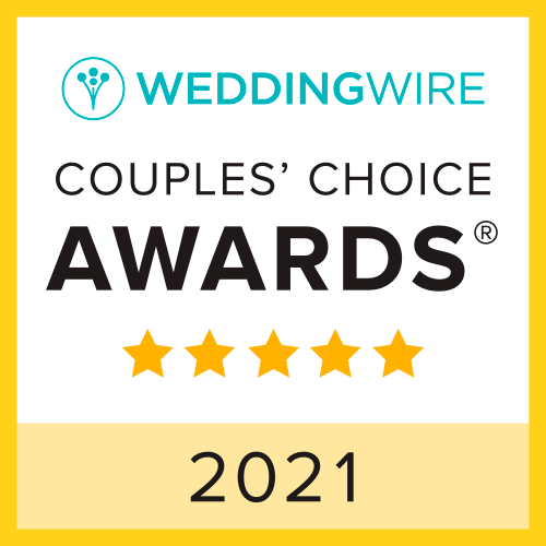Wedding Wire Couples Choice Award Badge 2021